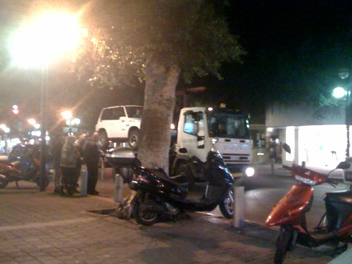 Towing Cars in Tel Aviv, Israel