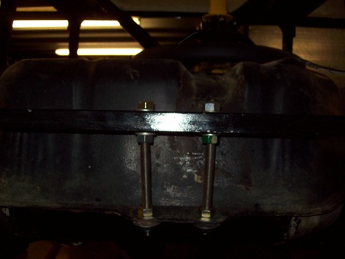 The rear of the fuel tank