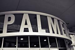 palmer (simis) Tags: light blackandwhite lines architecture curves lettering austintx quadtone palmerauditorium fromarchives