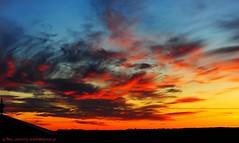 Fire in the sky (nikkorglass) Tags: sunset sky fire nikon sweden himmel april dxo sverige nikkor 70200 solnedgång eld lusthus d700