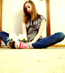 Silly (BREananicOLE) Tags: flowers love shoes converse chucks chucktaylors strictlypinkconverse shoesandflowers