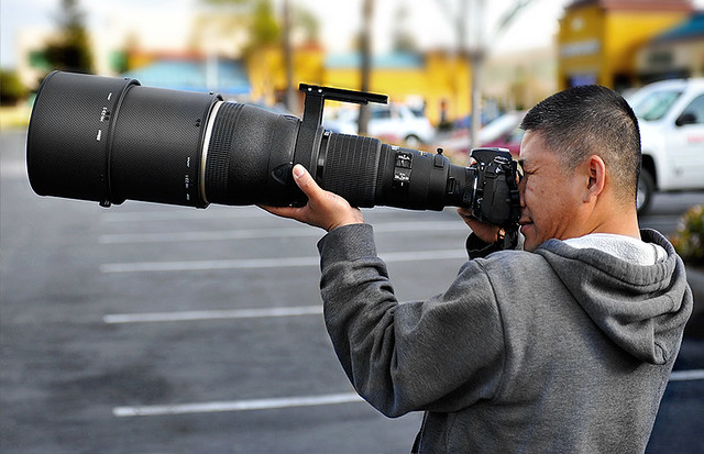 Nearly impossible to handhold this Nikon monster (600mm f/4).