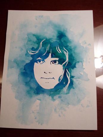 watercolor stencil portrait tutorial more art less craft