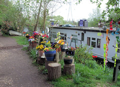 Houseboat On The Thames, Ryepark Meadow Moorings, Shepperton.