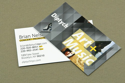Art & Music Series Business Card