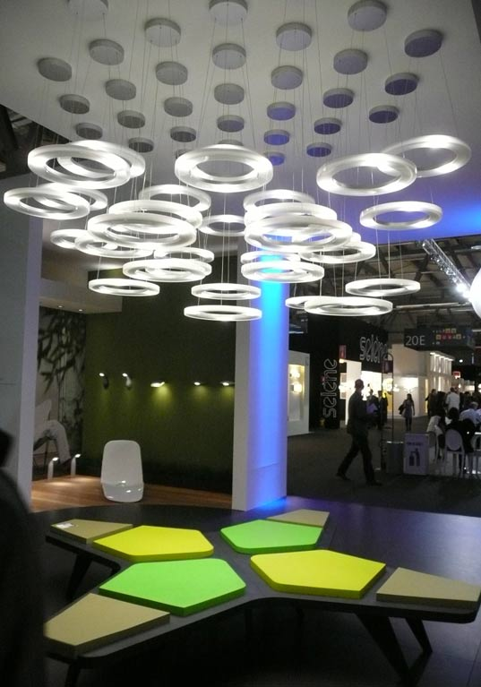 sustainable design, green design, milan furniture fair 2009, euroluce, energy efficient lighting, led lighting, philips ledino