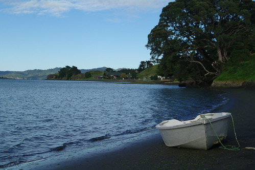 Row boat at Kawhia