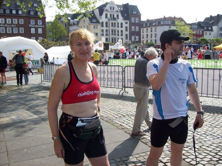 Vor dem Brückenlauf 2009 in Düsseldorf mit Ramon
