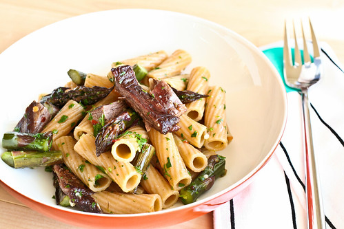 Steak, Asparagus & Chimichurri Pasta