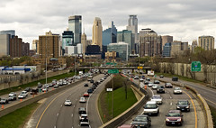 Minneapolis skyline from 24th St. (Chris Coward Photography) Tags: urban minnesota downtown canonef50mmf18 minneapolisskyline