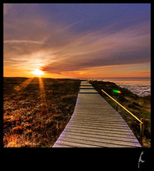 walk the line HDR (schoebs) Tags: cliff canon landscape eos evening sundown sigma 1020mm sylt hdr morsum 40d
