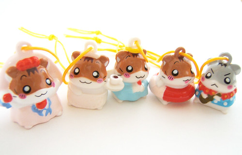 Hamtaro Hamster Figure charm phone strap keychain-japanese kawaii cute Anime