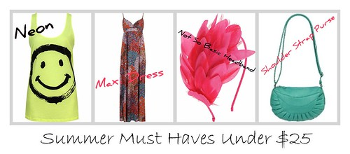 Summer must haves under 25