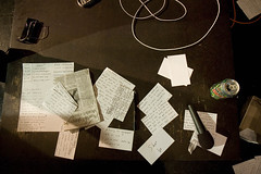 note cards aftermath (kozyndan) Tags: podcast seth losangeles jonathan live performance note hollywood improv taping recording notecard notecards uyd uhhyeahdude may32009 andydickexperimentalblackboxtheater