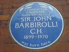Photo of John Barbirolli blue plaque