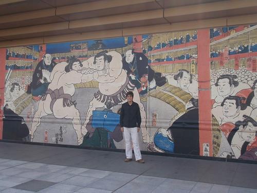 Mural Sumo tradicional