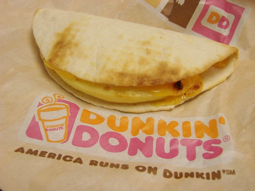 Dunkin Donuts Egg and Cheese