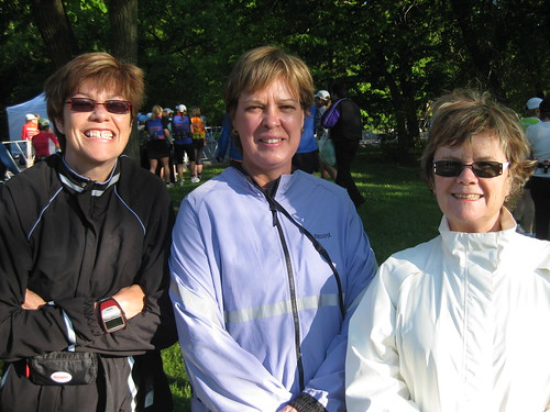 Rorie Reynolds, Norma Royer, Susie Eadie at the Toronto Women's Half Marathon