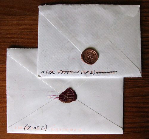 2-part letter with wax seals