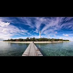 Le Phare Amedee Lighthouse ([ Kane ]) Tags: blue sky lighthouse france green water clouds island pier panoramic tropical tropicalisland ladder kane newcaledonia greenwater napoleoniii gledhill 50d amde kanegledhill amdelighthouse secondhighestlighthouseintheworld kanegledhillphotography