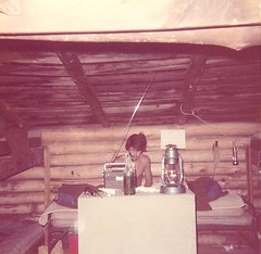 David in Bunkhouse, Cypher's Mine, 1974 (jimhmmm) Tags: 1974 cyphers davidphillips cyphersmine takenatcyphersmine staffbunkhouse
