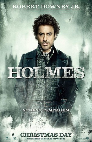 Robert Downy Jr as Sherlock Holmes, movie review