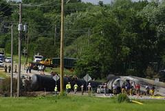 Carnage (Shawn!) Tags: cn train fire pentax il rockford tankers k200d derailement