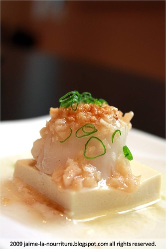 Chinese Box - Garlic Steamed Fresh Scallops with Tofu