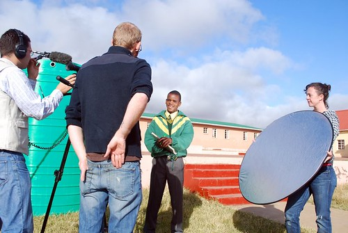 Filming at Osborne Senior School