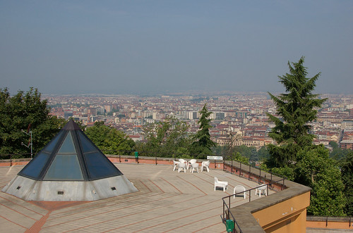The terrace of Villa Gualino, the conference venue, overlooking Turin