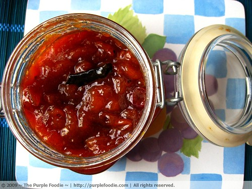 Peach and Cherry Jam