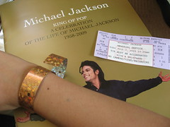 The program, ticket and wristband.