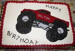 2D monster truck cake (r_dawn_dew) Tags: red cake monstertruck pipinggeltransfer