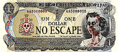 no escape (andres musta) Tags: money halloween bill funny zombie dollar andres musta munny