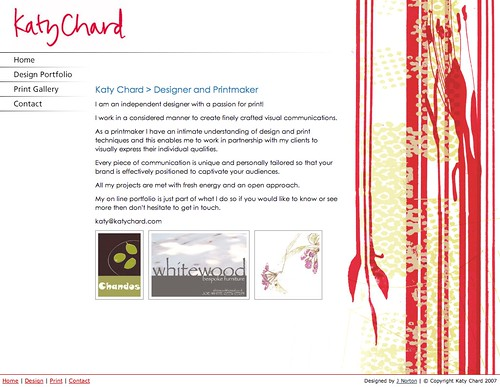 Katy Chard, Designer and Printer - Portfolio Website