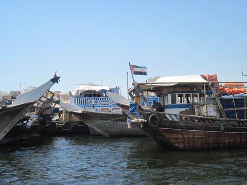 Cargo Boats on Dubai Creek