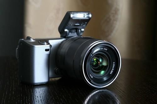 NEX-5 with flash