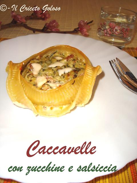 Caccavelle con zucchina e salsiccia
