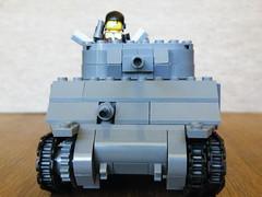 "LEGO M4A3 ""Sherman"" Tank (The Brickologist) Tags: tank lego division 7th sherman armoured shermantank m4a3tank ww2tank 75mmgun legoww2"