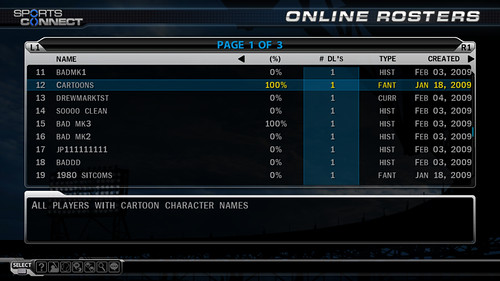 MLB 09 The Show Roster Vault
