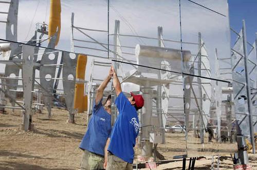 Planta AORA Energía Solar construcción