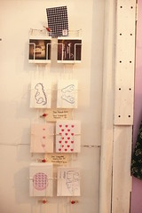 postcard / greeting card display (miyukim26) Tags: copyright studio hearts handmade d toycamera exhibition gocco rhino postcards policecar etsy floraldesign greetingcards babydino madeit bluecaravan madeinmelbourne miyukimardon northmelbournemarket moncdesign northcotemarket