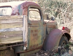 abandoned truck (Dave* Seven One) Tags: rot history abandoned nature neglect rust time decay rusty forgotten past dents gmctruck fallingapart abandonedtruck cheverolettruck