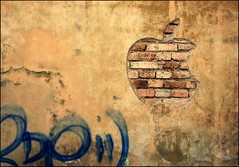 Urban Apple Logo (DSCF5982) (iulian nistea) Tags: street wallpaper urban apple logo graffiti design romania brand applelogo clujnapoca scrappingoff outstandingromanianphotographers