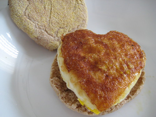 Heart Shape Egg Sandwich