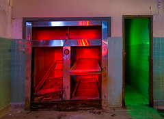 Mini-Morgue (Noel Kerns) Tags: abandoned beach night hospital army texas fort wells mineral wolters morgue