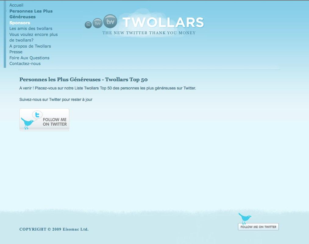 Twollars : Les Personnes Les plus Généreuses