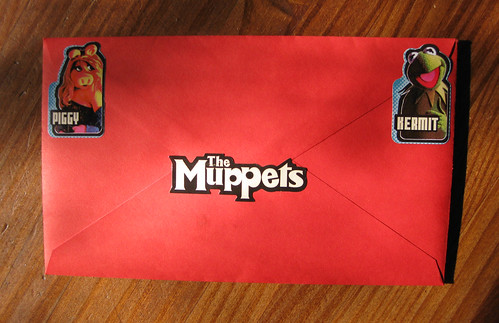Muppet envelope with stickers