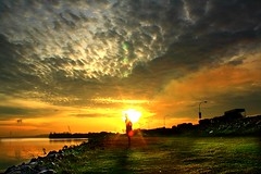 Lady of the Dawn (Kenny Teo (zoompict)) Tags: morning sky beautiful clouds sunrise canon wife kenny kranji reservoire my colourartaward eos1000d zoompict singaporelowerpiercereservoir