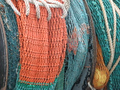 Catch of the Day (blue foot) Tags: orange green colourful ropes float nets trawler onlythebestare ilovemypics